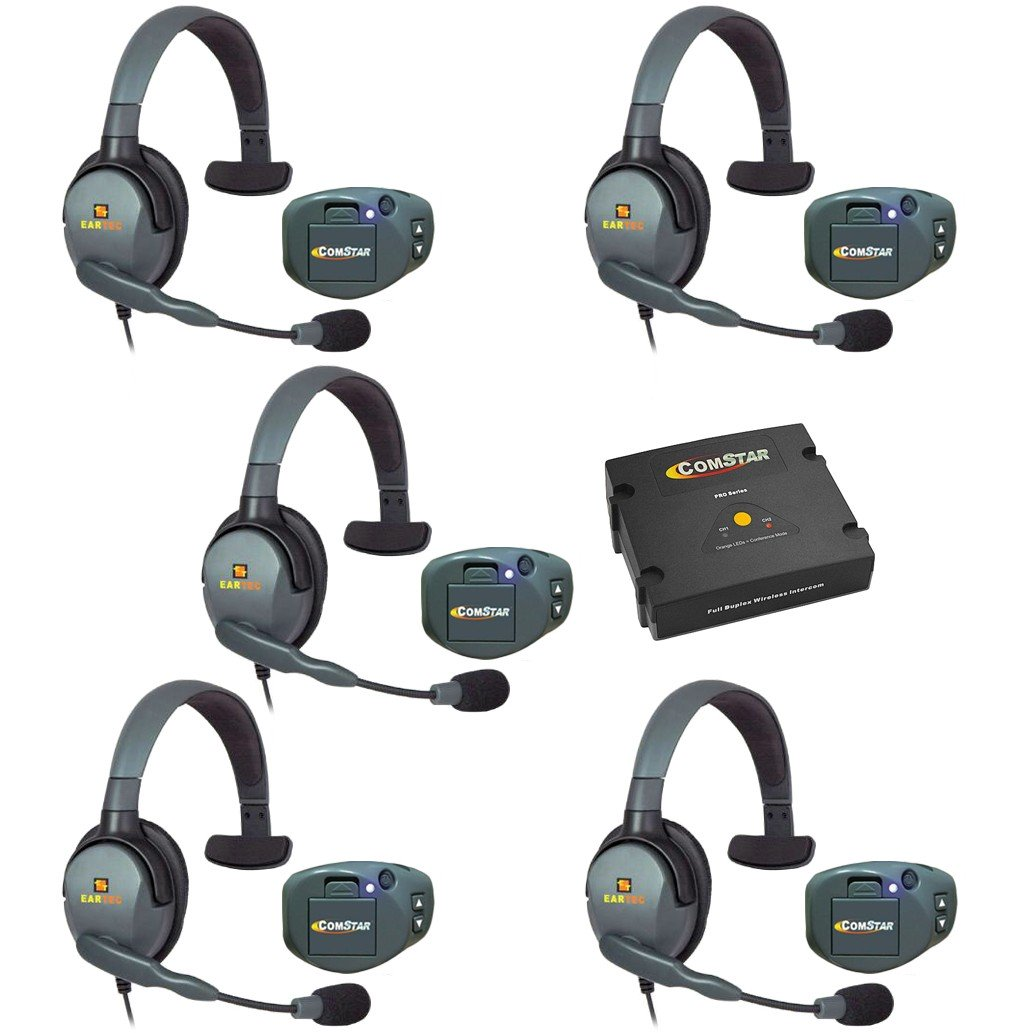 Eartec Comstar 5 Five Person Wireless Intercom System With