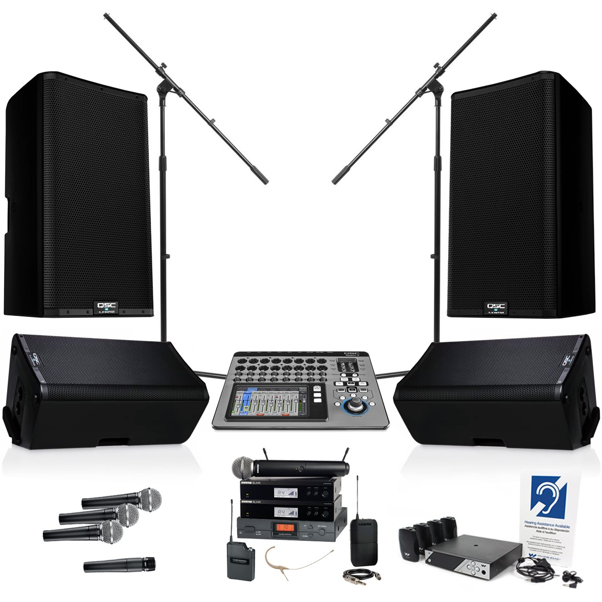 qsc audio church sound system with k12 2 and k10 2 loudspeakers and digital mixer. Black Bedroom Furniture Sets. Home Design Ideas