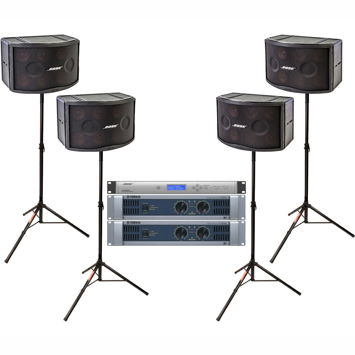 bose band sound system with 4 panaray 802 series iii loudspeakers and yamaha p2500s power amplifier. Black Bedroom Furniture Sets. Home Design Ideas