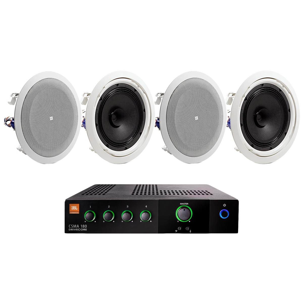 Conference Room Sound System With 4 Jbl In Ceiling
