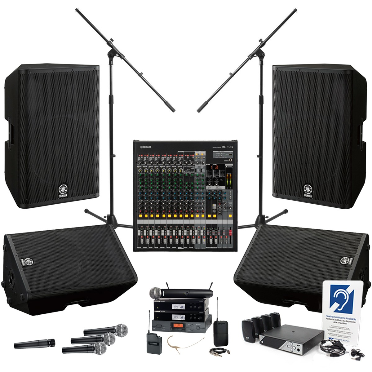 church sound system with yamaha mgp16x mixing console and 4 dxr loudspeakers. Black Bedroom Furniture Sets. Home Design Ideas
