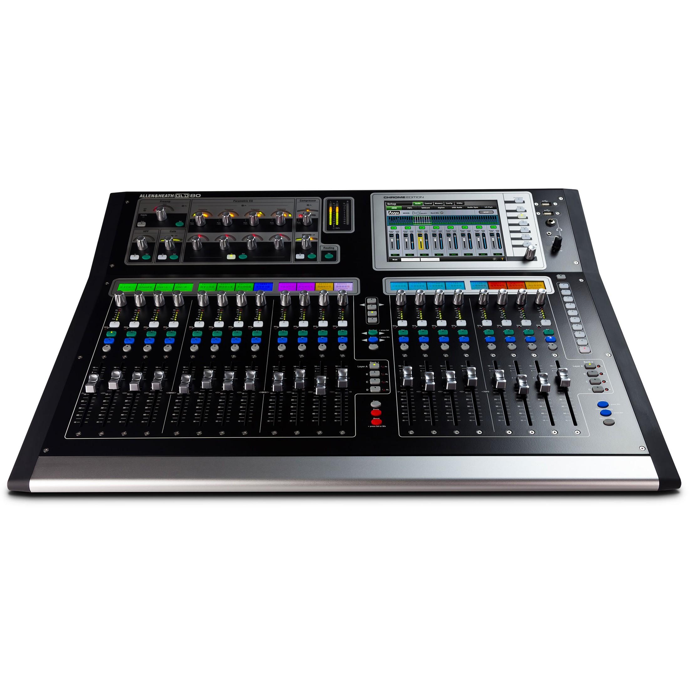 Gld Quote: Allen & Heath GLD-80 Chrome Edition Compact Digital Mixer