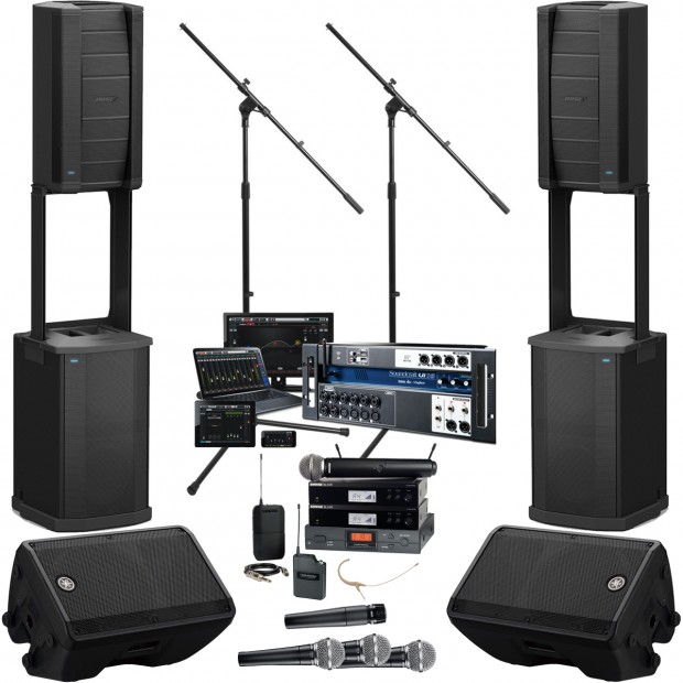 bose f1 church sound system with soundcraft ui16 mixer. Black Bedroom Furniture Sets. Home Design Ideas