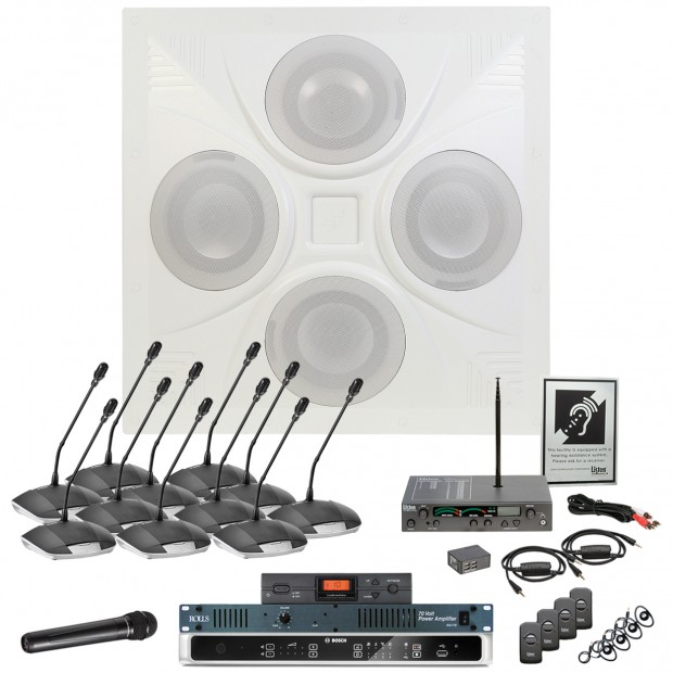 City Council Room Sound System with Bosch Digital Discussion System and Built‑in MP3 USB Recording