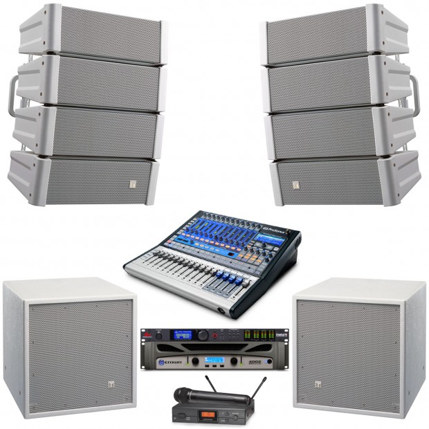 Toa Church Sound System With 2 Hx 5 Loudspeakers And Crown