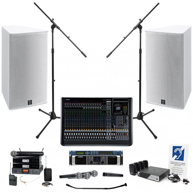 yamaha church sound system with 2 if2115 95 loudspeakers and mgp24x mixer. Black Bedroom Furniture Sets. Home Design Ideas