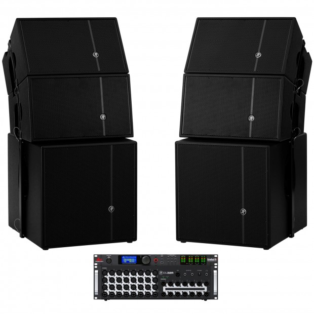 Mackie Church Sound System with 4 HDA Loudspeakers and DL32 Wireless Digital Mixer