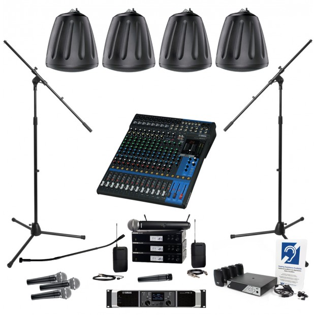 soundtube church sound system with 4 rs600i pendant speakers and yamaha mg16xu mixer. Black Bedroom Furniture Sets. Home Design Ideas