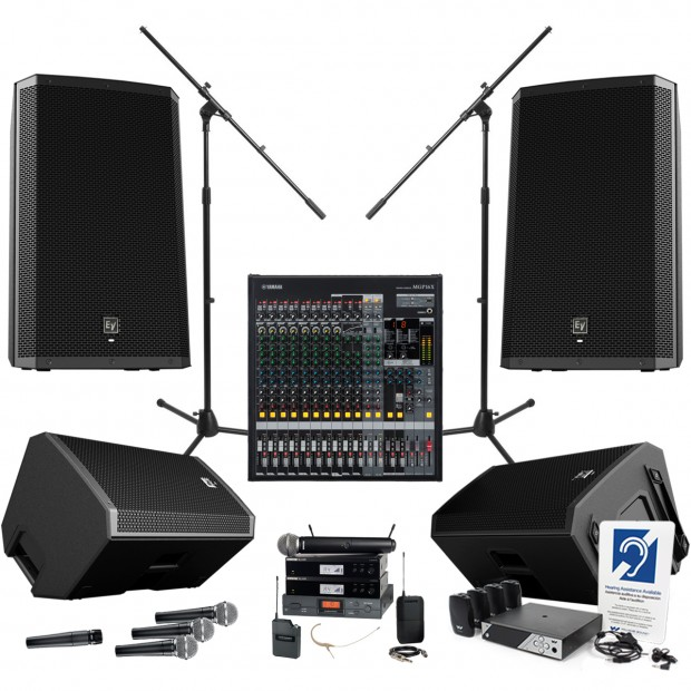 Church Sound System With Yamaha Mgp16x Mixing Console And