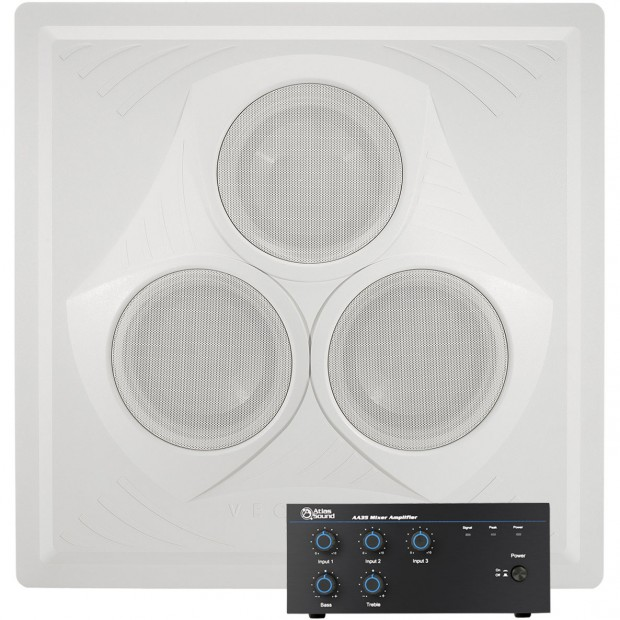 Classroom Sound System with Vector Ceiling Speaker and Atlas Sound AA35 Mixer Amplifier