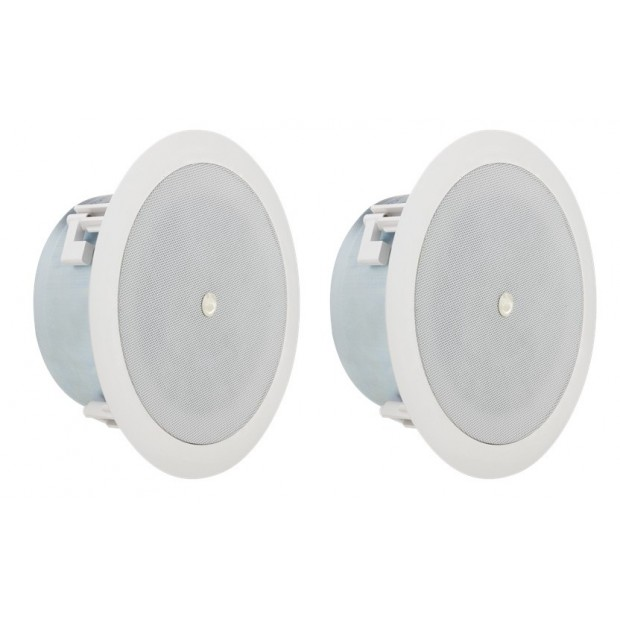 Atlas Sound FAP42TC-UL2043 Strategy II Series 4 inch Coaxial Shallow In-Ceiling Loudspeaker (UL 2043 Listed) - Pair