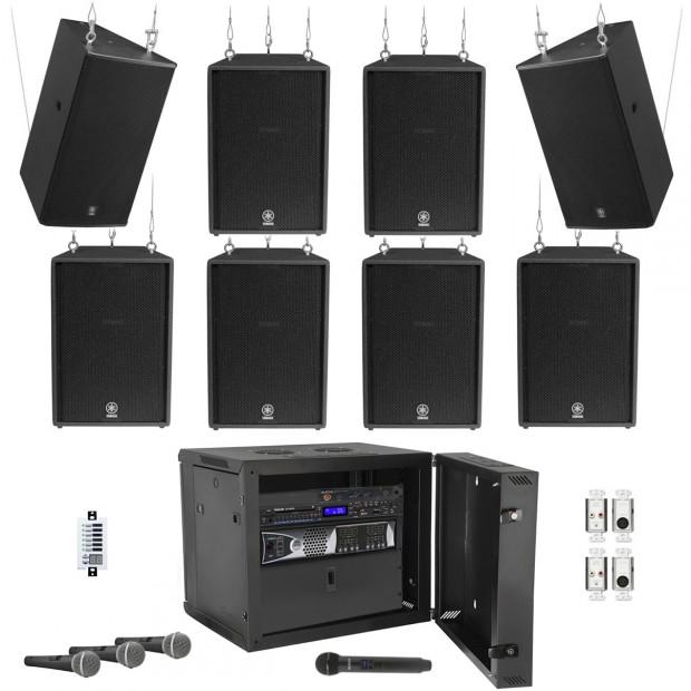 Yamaha Gymnasium Sound System with 10 C10VA Loudspeakers, Ashly