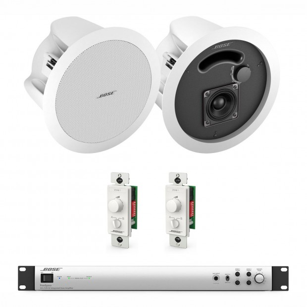 Bose Hotel Sound System with 16 DS FreeSpace Loudspeakers and IZA 2120-HZ Amplifier
