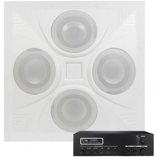 Classroom Sound System with SD4 Ceiling Speaker Array and MA30BT Bluetooth Mixer Amplifier