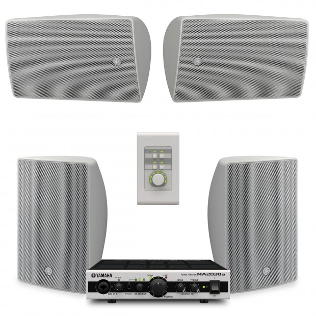 Yamaha Restaurant Sound System With 4, Wall Mounted Surround Sound System