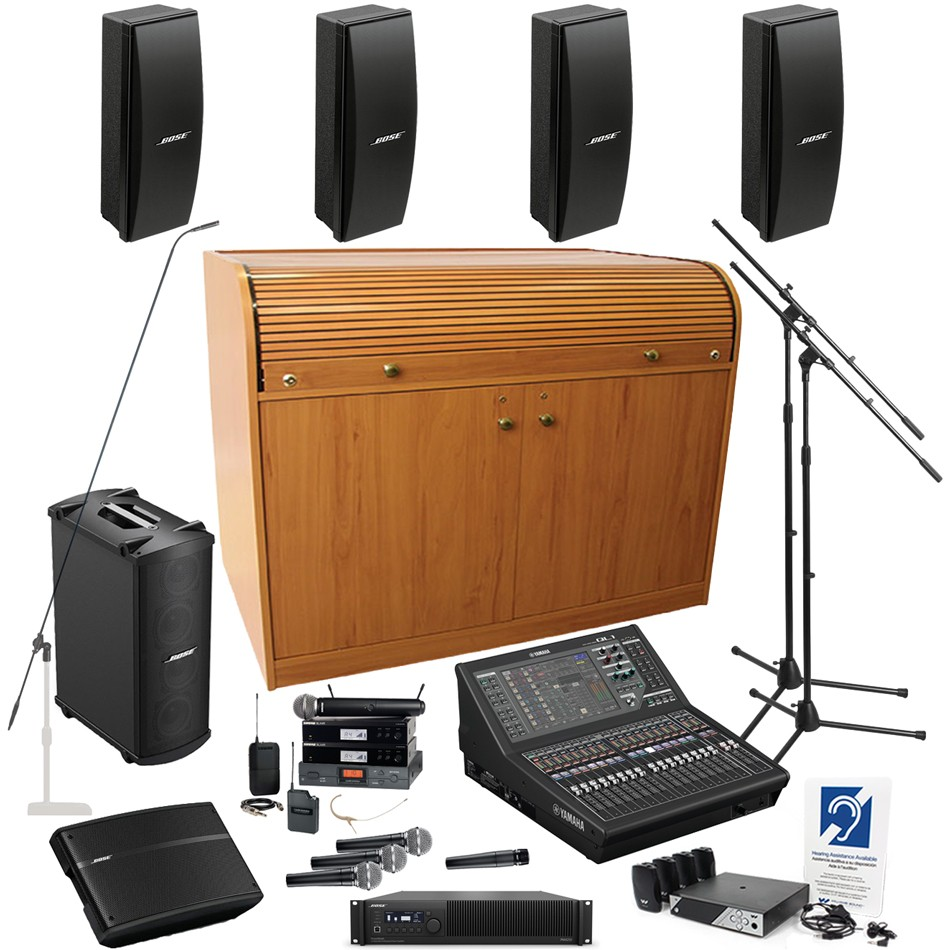 Church sound system with yamaha ql1 mixing console 4 bose for Yamaha commercial audio