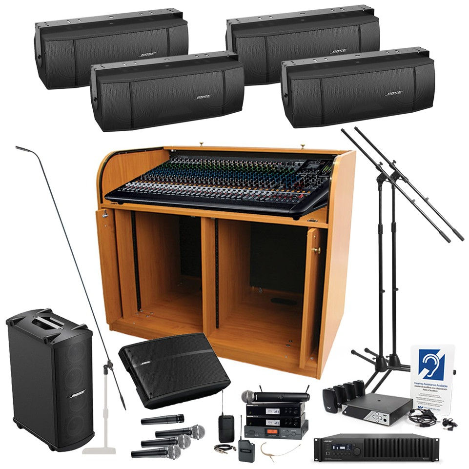 Church sound system with yamaha mgp32x mixing console 4 for Yamaha sound console