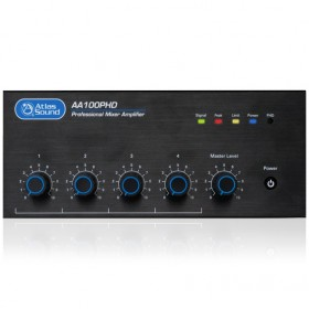 Atlas Sound AA100PHD 4-Input 100W Mixer Amplifier with Automatic System Test (PHD)