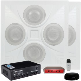 Classroom Sound System with 2 SD4 Ceiling Speaker Arrays MA30BT Bluetooth Amplifier and TeachLogic Voicelink I System