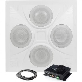 Wireless Bluetooth Classroom Sound System with Ceiling Speaker Array and Bluetooth Mixer Amplifier