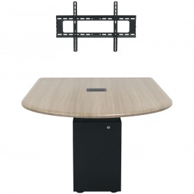 Middle Atlantic HUB Bullet Shaped Huddle Meeting Table Work Surface with Thermolaminate Finish