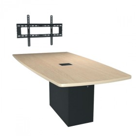 Middle Atlantic HUB Angle Shaped Huddle Meeting Table Work Surface with High Pressure Laminate Finish