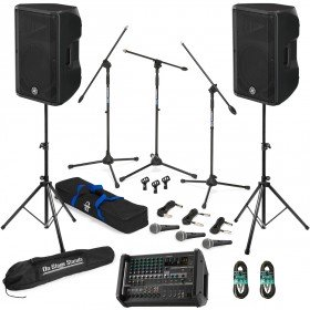 Live Sound System Package with 2 Yamaha CBR12 Speakers and Yamaha EMX5 Powered Mixer