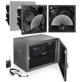 Command and Control Room Sound System with 3 Bose EdgeMax Premium In-Ceiling Loudspeakers and Atlas Sound Mixer Amplifier