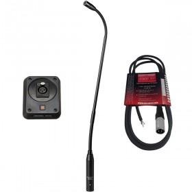 "Audio-Technica U859QL 18.9"" Gooseneck Microphone with AT8647QM/S Shock Mount Plate"
