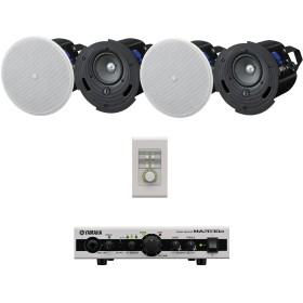Yamaha Restaurant Sound System with 4 VXC4 In-Ceiling Speakers and MA2030a Mixer Amplifier