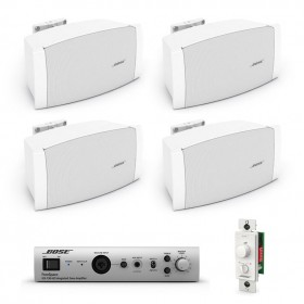 Bose Restaurant Sound System with 4 FreeSpace DS 16S Wall Mount Speakers and FreeSpace IZA 190-HZ Zone Amplifier