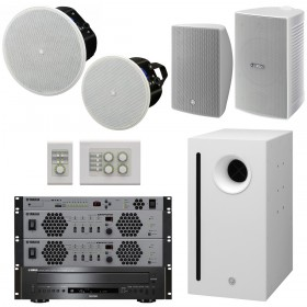Yamaha MultiZone Retail Store Sound System with VX Series Speakers MTX3 Matrix Processor XMV Series Amplifiers and CD-C600 CD Player
