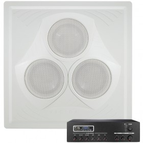 Classroom Sound System with Vector Ceiling Speaker Array and MA30BT Bluetooth Mixer Amplifier