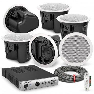 em Bluetooth Amplifier Ceiling Speaker System Cafe Restaurant Shop Pair